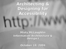Architecting and Designing for Accessibility