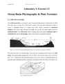 Ocean Basin Physiography & Plate Tectonics