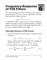 Frequency Response of FIR Filters