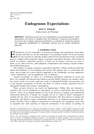 Endogenous Expectations