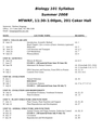 Biol 101 Syllabus