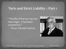 TORTS AND STRICT LIABILITY
