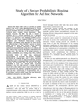 Study of a Secure Probabilistic Routing Algorithm for Ad Hoc Networks