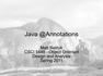 Java @Annotations