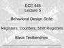 Lecture 5 Behavioral Design Style
