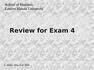 CIS 3200 Review Exam4