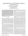 Transient Behaviors of TCP-friendly Congestion Control Protocols
