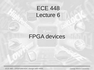 Lecture 6 FPGA devices