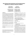 Near Optimal Online Algorithms and Fast Approximation Algorithms for Resource Allocation Problems