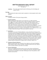 Written Final Research Report