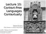 Context-Free Languages Contextually